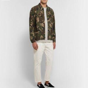 Wallace & Barnes camo zip-front twill shirt-jacket